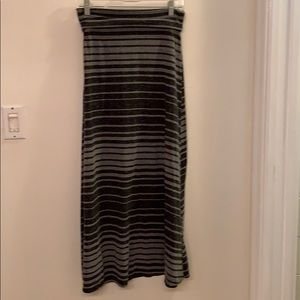 Women's small black and gray maxi skirt